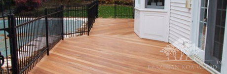 Brazilian Koa wood deck